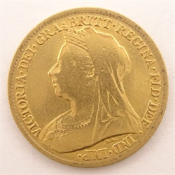Queen Victoria 1898 gold half sovereign
