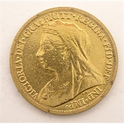 Queen Victoria 1899 gold half sovereign