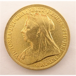 Queen Victoria 1900 gold full sovereign