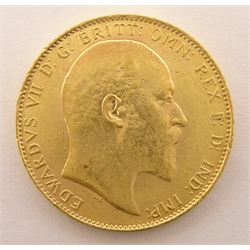 King Edward VII 1906 gold full sovereign