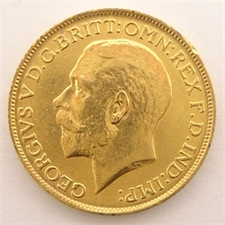 King George V 1912 gold full sovereign