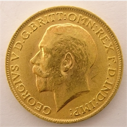 King George V 1913 gold full sovereign
