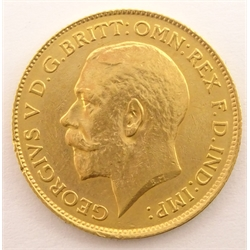 King George V 1913 gold half sovereign