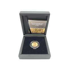 Queen Elizabeth II 1957 gold full sovereign, cased with certificate