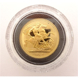 Queen Elizabeth II 1979 gold proof full sovereign, no box or certificate