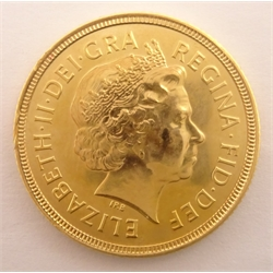 Queen Elizabeth II 2001 gold full sovereign