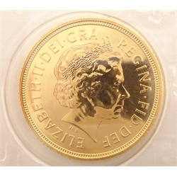 Queen Elizabeth II 2006 gold full sovereign