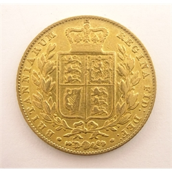 Queen Victoria 1842 gold full sovereign