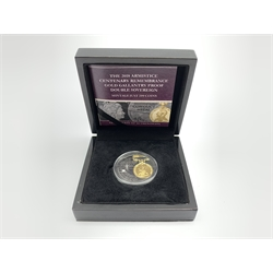 Queen Elizabeth II Tristan Da Cunha 'The 2018 Armistice centenary remembrance gold gallantry proof double sovereign', cased with certificate