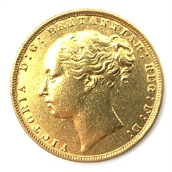 Queen Victoria 1876 gold full sovereign