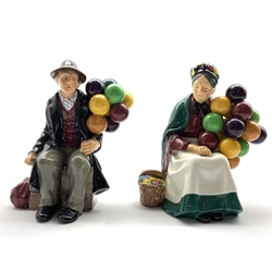 Royal Doulton figure 'The Old Balloon Seller' HN 1315 and another 'The Balloon Man' HN 1954 (2)