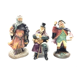 Royal Doulton figure 'Town Crier' HN 2119, another 'Good King Wenceslas' HN 2118 and another 'The Coachman' HN 2282 (3)