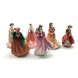 Royal Doulton figure 'Top o' The Hill' HN 1834 and five others comprising 'Danielle' HN 3868, 'Lauren' HN 3975, 'Lady Charmian HN 1949, 'Ruth' HN 4099 and 'Rosie' HN 4094 (6)
