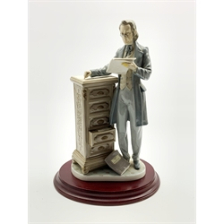 Lladro figure 'The Attorney' on a wooden base No. 5213 H34cm