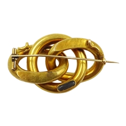 Victorian 15ct gold link brooch