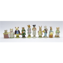 Ten Beswick Beatrix Potter figures Pickles, Ribby, Tom Thumb, Cecily Parsley, Ginger, Foxy Whiskered Gentleman, Simpkin, Susan, Pigling Bland and Mr Benjamin Bunny (10)