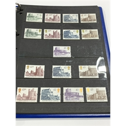 Queen Victoria and later, Great British and Commonwealth mostly mint stamps including Queen Elizabeth II Aden, Antigua, Ascension, Bahamas 1953 values to one pound, Basutoland, Bechuanaland Protectorate 1955 values to ten shillings, British Guiana 1954 values to five dollars, British Honduras 1953 values to five dollars, British Virgin Islands 1956 values to four dollars and eighty cent, Cayman Islands 1953 values to one pound, Cyprus 1955 values to one pound, Dominica 1954 values to two dollars forty cents etc, Great Britain King George VI 1939-48 mint values to one pound including ten shilling dark blue, various Queen Elizabeth II pre and post decimal mint stamps etc, in three ring binder albums, an exceedingly well presented collection with useful stamps throughout