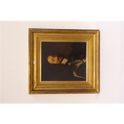 After Van Dyke oil portrait on canvas of Charles I in gilt frame, 60cms x 53cms