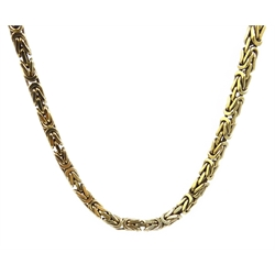 9ct gold Kings link chain necklace, stamped 375, approx 41.5gm