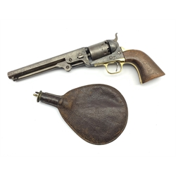 Colt .36 Navy revolver, serial number 134434 with octagonal barrel inscribed 'Address Col Saml Colt New-York US America, the butt strap numbered 12724 L33cm overall