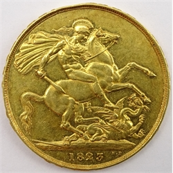 King George IV 1823 gold double sovereign
