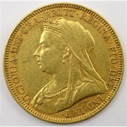 Queen Victoria 1894 gold full sovereign