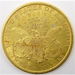 United States of America 1897 gold twenty dollars coin, S mint mark