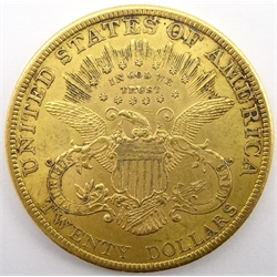 United States of America 1900 gold twenty dollars coin