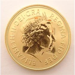 Queen Elizabeth II 2005 gold full sovereign