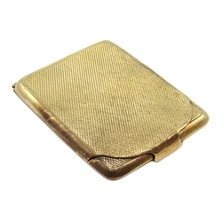 9ct gold vesta case, engine turned decoration by  William Neale & Son Ltd, Birmingham  1925