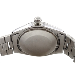 Rolex Oyster Perpetual Explorer Precision T<25, 1971 gentleman's automatic stainless steel, bracelet wristwatch, Model No.5500, serial No. 2795051, calibre 1520, boxed with papers