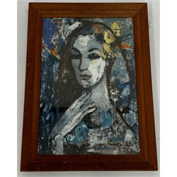 * Judy Cassab (Australian 1920-2015): Head of a Girl, oil on board, signed 55cm x 37cm. This lot may be subject to Artists Resale Rights  Provenance: from the private family collection at Harewood House - <a href='https://www.dugglebystephenson.com/auctions/harewood-house.aspx'>Read more...</a>