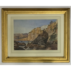 * Thomas Hartley Cromek (British 1809-1873): 'Sorrento Near Naples' pencil and watercolour with scratching out, signed and inscribed as title (on the reverse) 32cm x 45cm. Exh: Harewood House and Holburne Museum, Bath 1999-2000 NB Cromek visited Sorrento in 1831 and again in August 1841  Provenance: from the private family collection at Harewood House - <a href='https://www.dugglebystephenson.com/auctions/harewood-house.aspx'>Read more...</a>