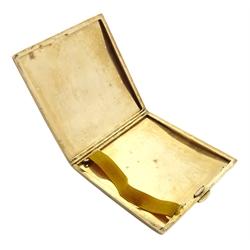 9ct gold cigarette case, engine turned decoration by Payton, Pepper & Sons Ltd, Birmingham 1927