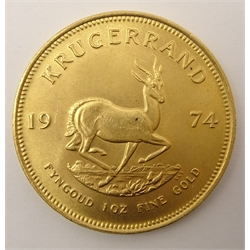 South Africa 1974 one ounce fine gold Krugerrand