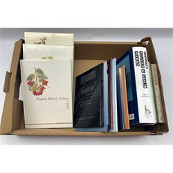 Collection of antiques reference books and Wagtails book of fuschsias (4 volumes)