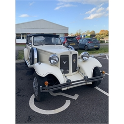 Beauford wedding car - 1980's replica of a classic 1930's two door grand tourer luxury car, with four cylinder Ford engine, registration number RAO 19X - not running