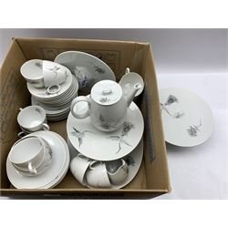 German dinner service by Raymond Loewy in the Jet Rose pattern