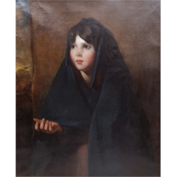 Thomas Hartley (British fl.1820-1860): Portrait of an Irish Peasant Girl, oil on canvas signed and dated 'Athlone 1834', inscribed 'No.3' verso 75cm x 62cm  Notes: Hartley exhibited at the Royal Academy between 1821 and 1859, from various London addresses. A mezzotint after Hartley of William Lockwood is held by the British Museum.